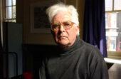 Man in black … playwright John Arden.