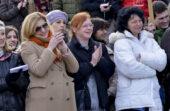Zagreb, 04.02.2013 - Ispred HNK odrzan je prosvjedni skup kulturnih radnika